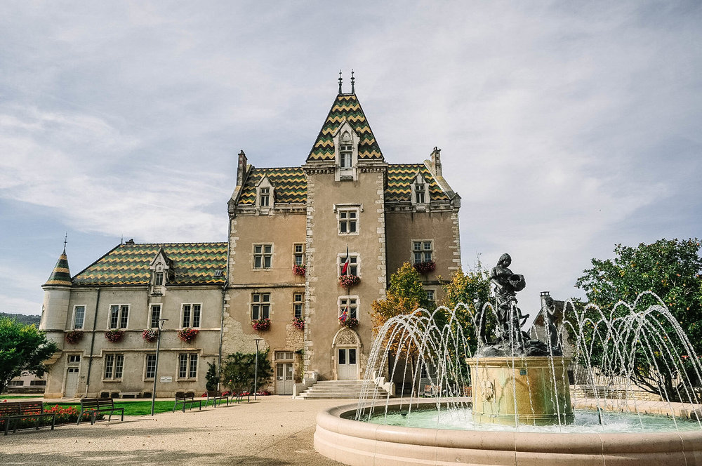 The Town Hall in Meursault, where much of Ann's novel is set.