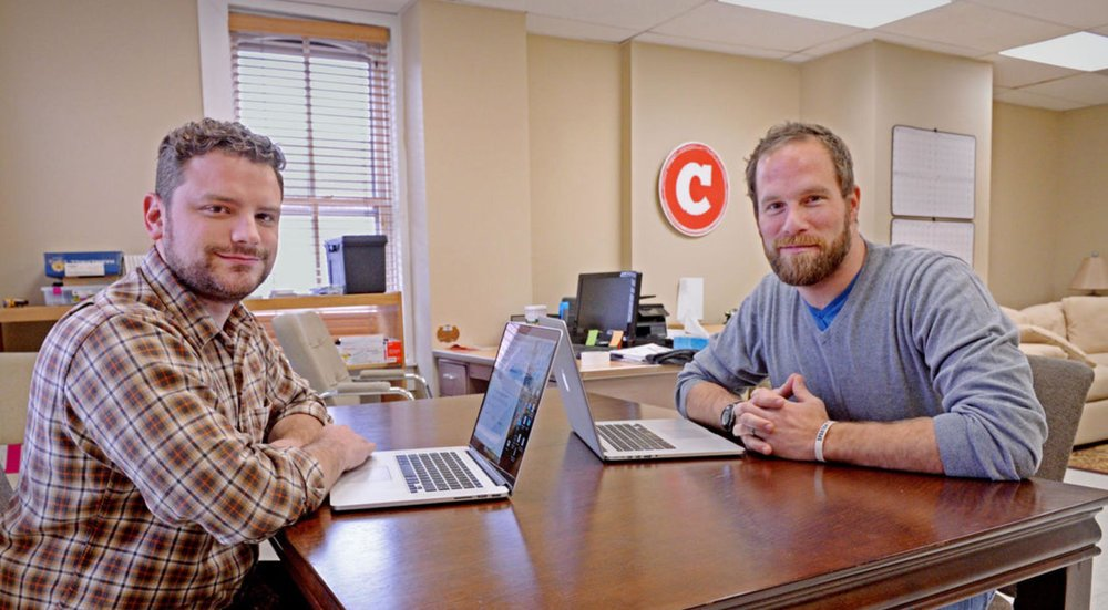 PHOTO CREDIT: Blaine Shahan | LNP Staff Photographer (Adam Grim on left, Justin Rule on right)