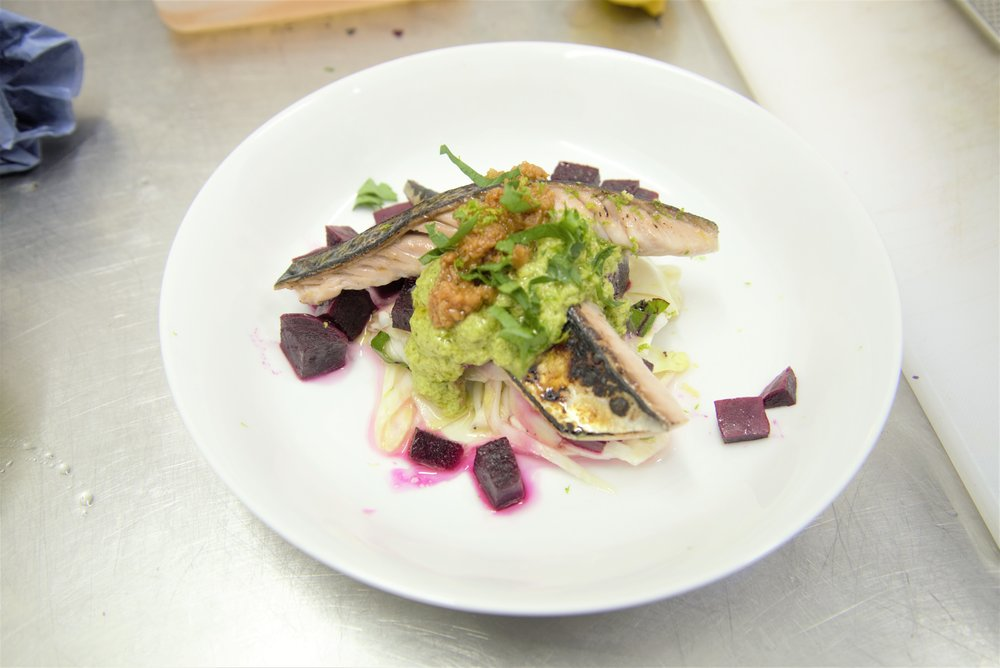 Chargrilled Mackerel and Beetroot