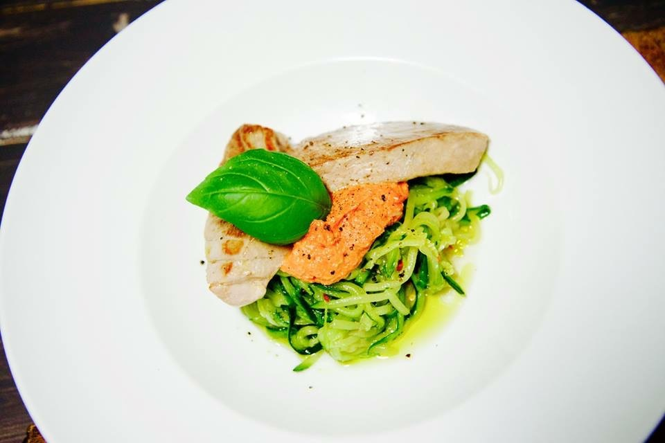 Pan-fried Tuna and Courgetti