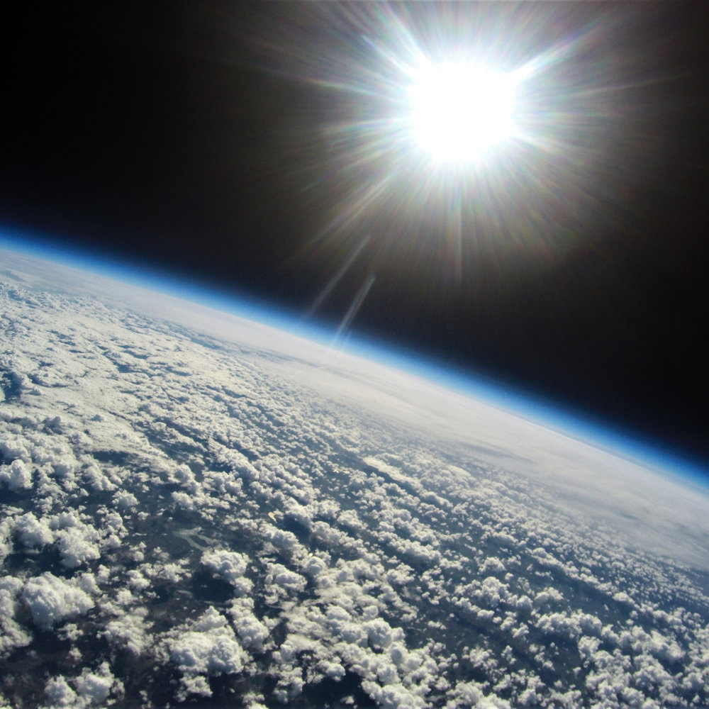 The Earth as seen from space on a Near Space high altitude balloon flight
