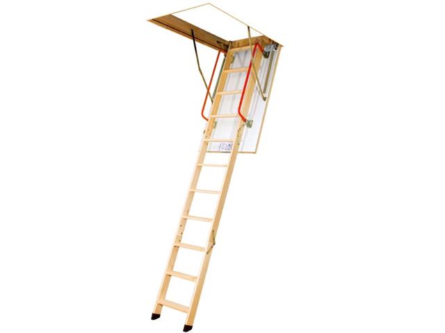 Fakro LWK Timber Bi-Folding Loft Ladder. (160kg)