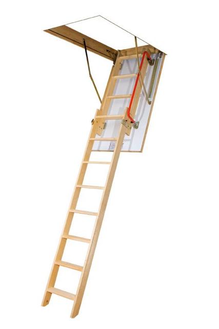Fakro LDK Timber Sliding Loft Ladder. (160kg)