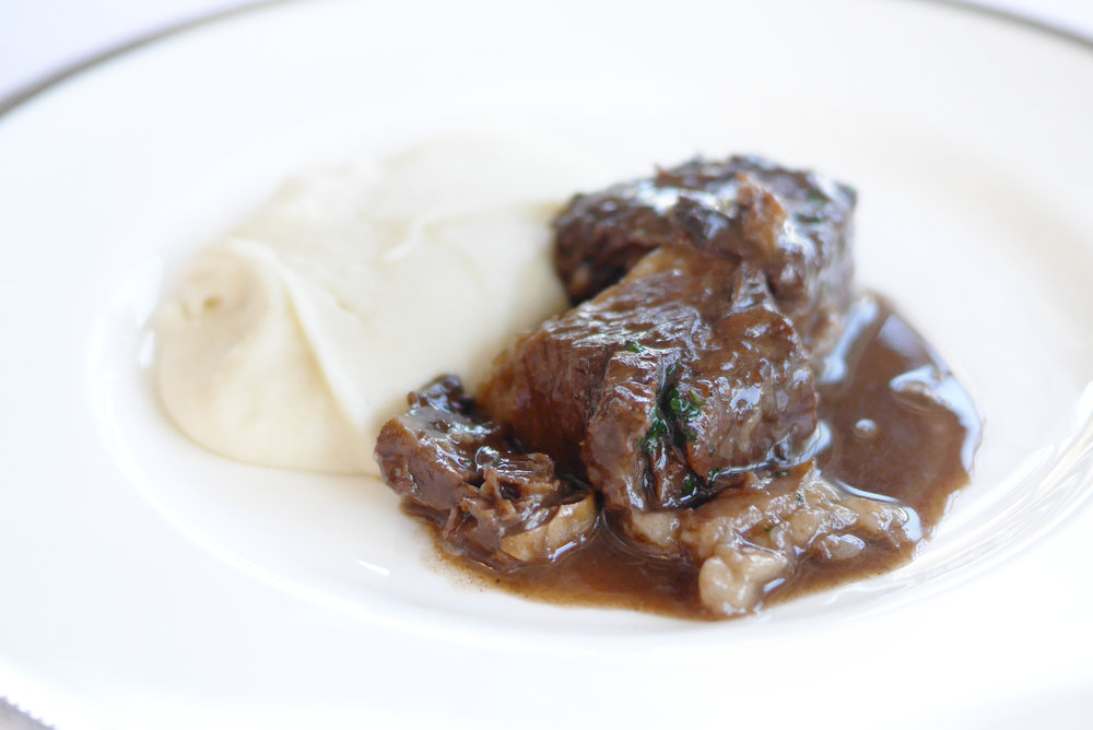 Slow Braised Wagyu Beef Spare Ribs with Truffle Oil - Potato Pure