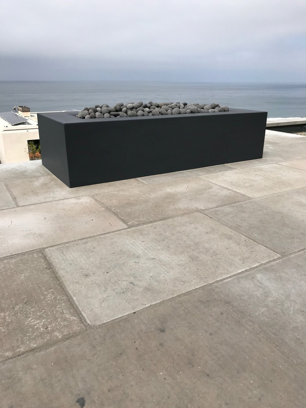 Landscape construction including fire features in Dana Point, California, United States