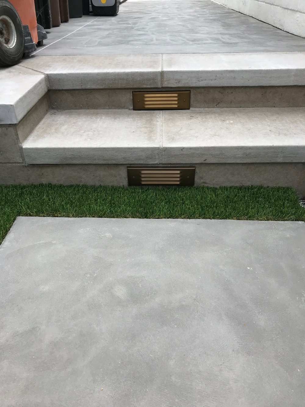 Concrete steps built after excavation work in Dana Point
