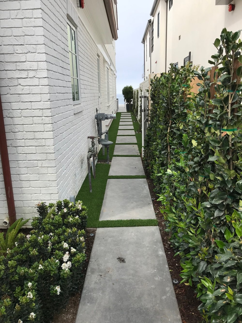 Masory walkway in Dana Point, California, United States