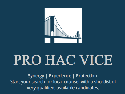 Pro Hac Vice