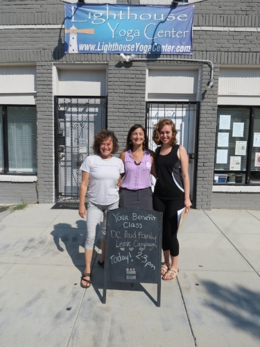 Julie, Amy and Hannah at Paid Family Leave class at Lighthouse Yoga Center