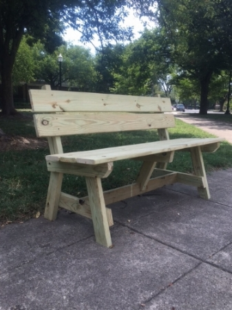 Bench that suddenly appeared in Sherman Circle on September 7