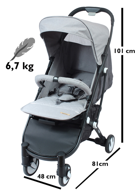 - You can fold and unfold the Squizz in a blink with one hand while holding your baby in the other. To fold unlock with one hand the double security mechanism on the handlebar. An autolock maintains the stroller folded. The stroller remains upright on its back wheels and castors.