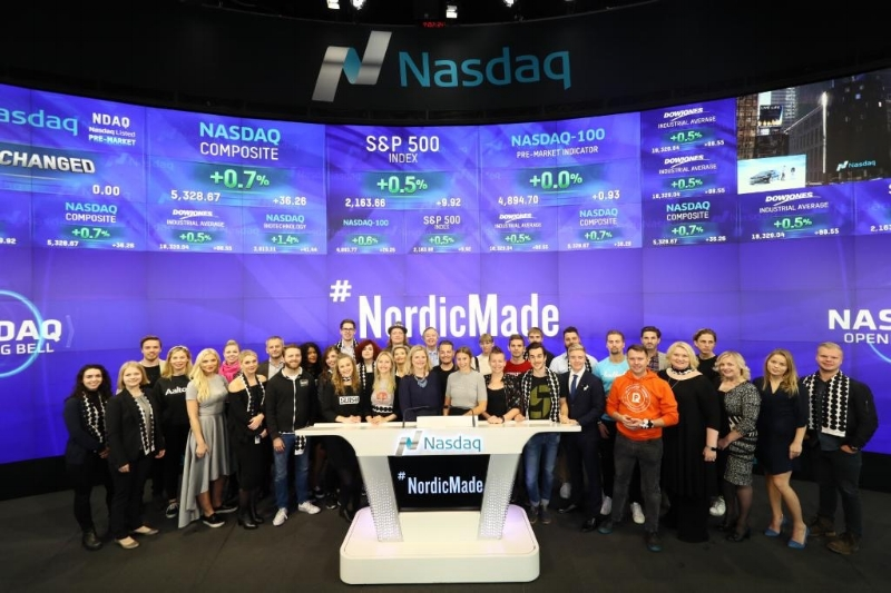 The #NordicMade community got to ring the Nasdaq opening bell in New York City.  Photo Joonas Linkola