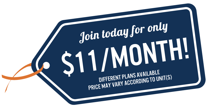 Join today for only $11 per month!