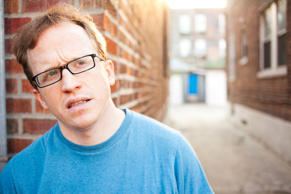 Chris Gethard: Career Suicide, Written and Performed by Chris Gethard, Directed by Kimberly Senior, 45 Bleecker Street, NYC. Photo by Zac X. Wolf.