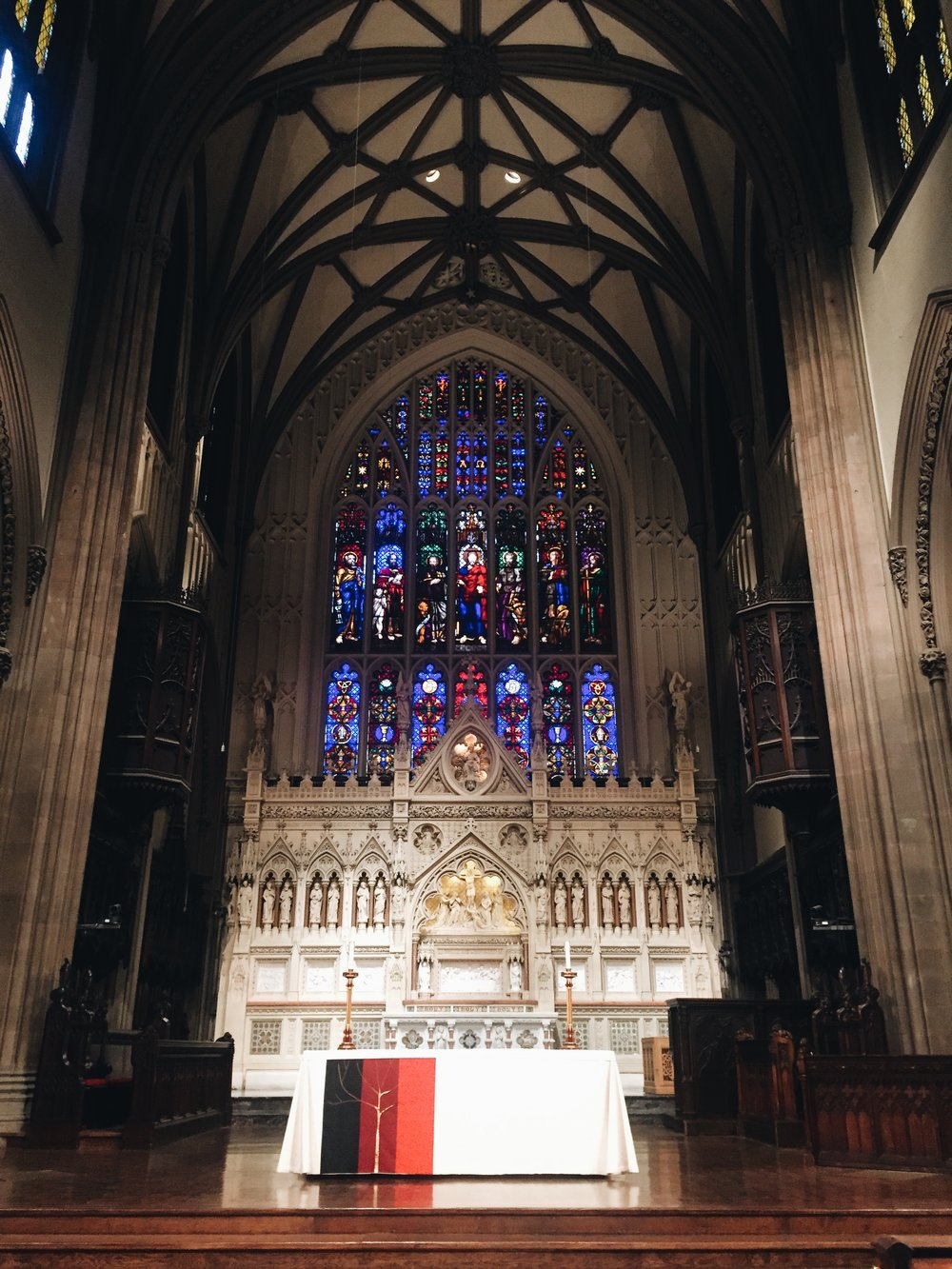 A beautiful church (and great place to get warm on a freezing day).