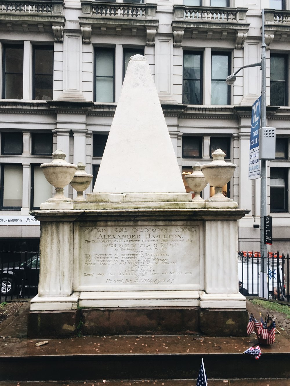 """...she is buried in Trinity Church near you..."""