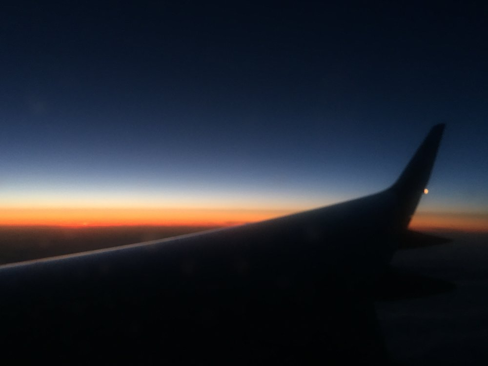 A brief glimpse of the sunset on the way back. It was an incredible week.