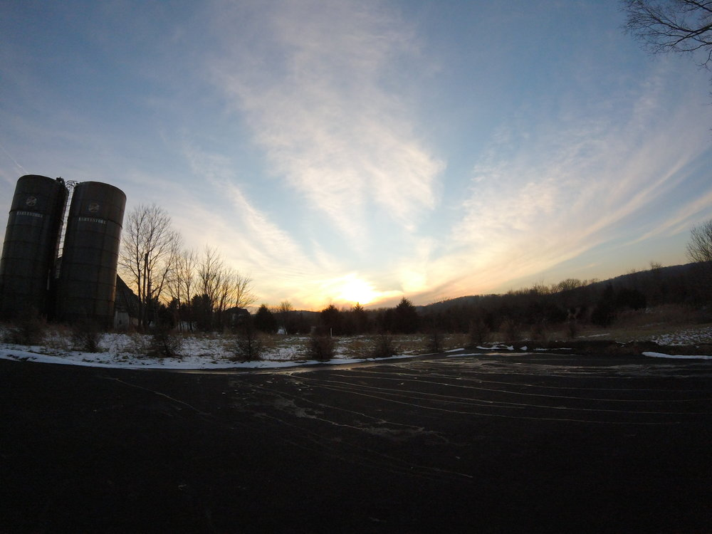 Thomson Farm view from front with sunset.JPG