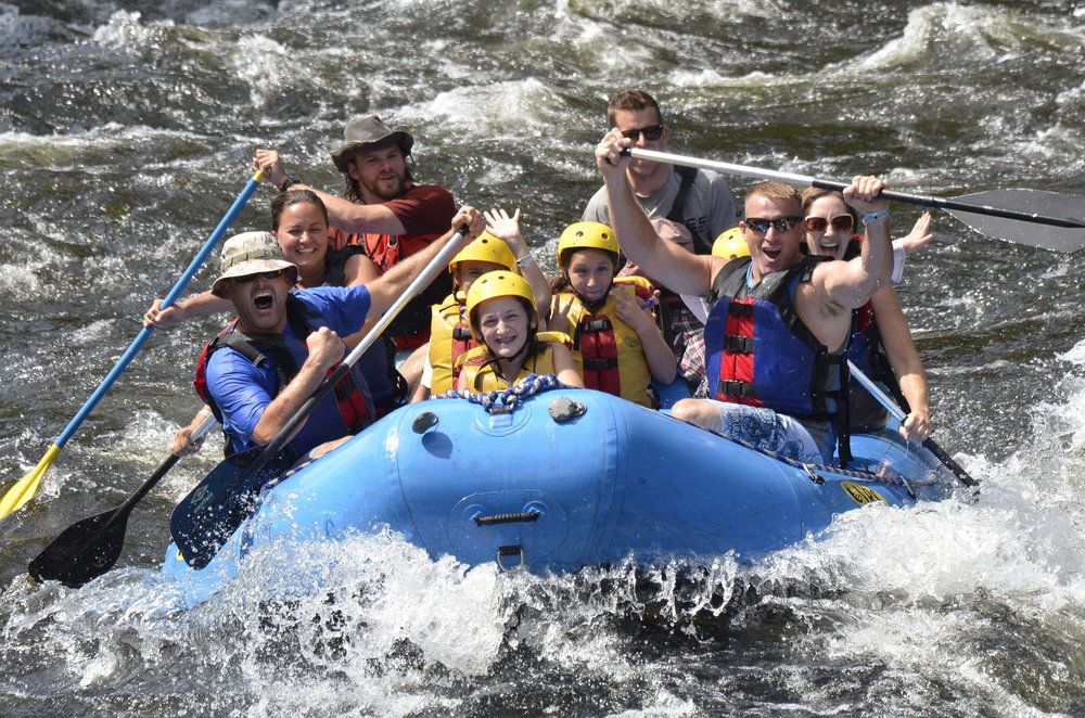 White Water rafting with our neighbors on the Sacandaga River in NY.