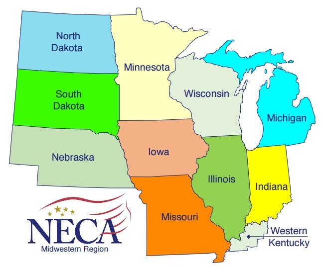 Ibew Illinois Map.Standardized Wage Forms Twin Ports Neca