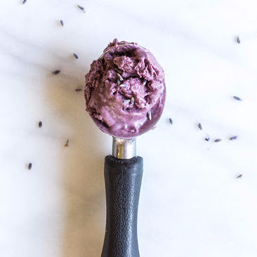 Blueberry Lavender Dairy Free Ice Cream Recipe