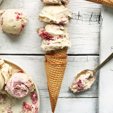 Raspberry Ripple Coconut Ice Cream Recipe