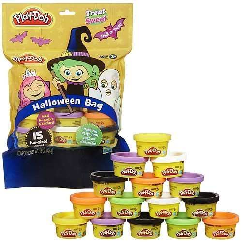 Halloween Candy Alternatives Play-doh Halloween Bag