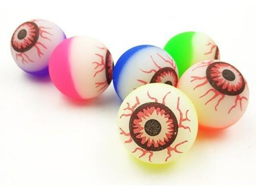 Halloween Candy Alternatives glow in the dark eyeball bouncy balls