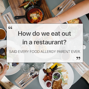 how to order in a restaurant with food allergies