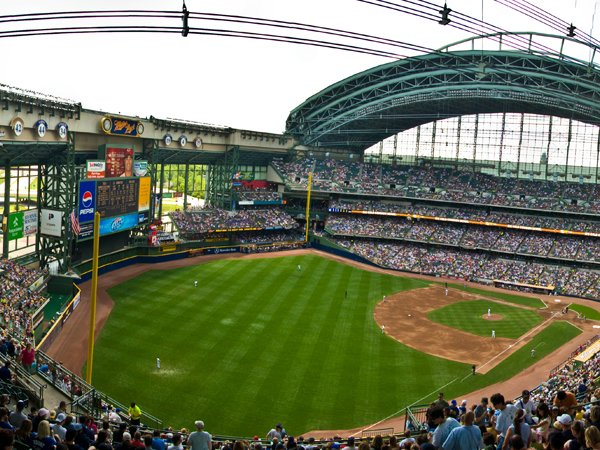 PHOTO CREDIT: BRYCE EDWARDS /  Milwaukee City Guide Milwaukee Brewers at Miller Park