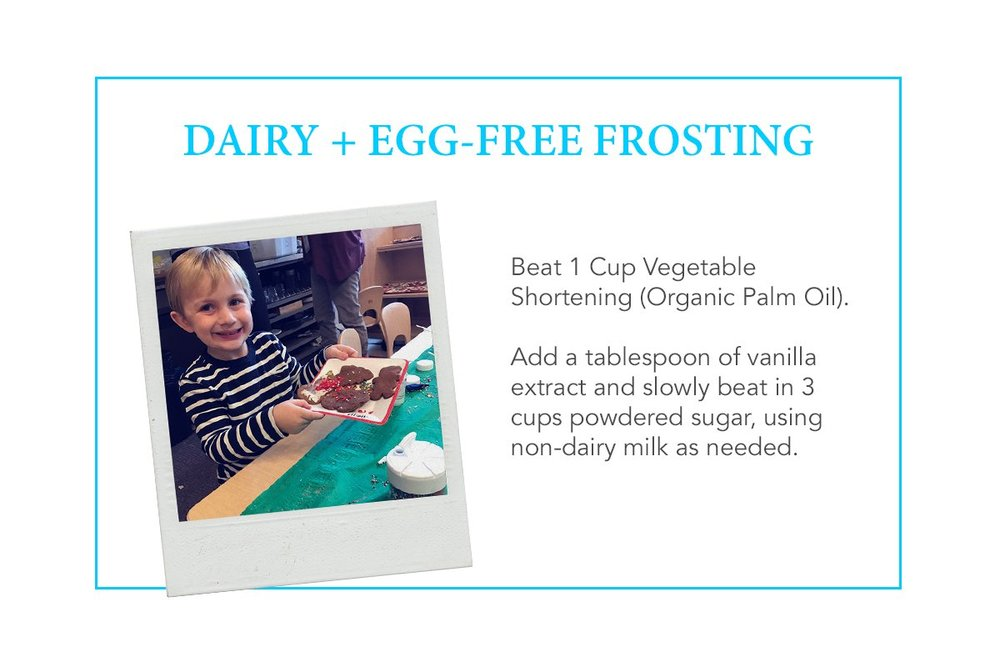 dairy free egg free frosting food allergies
