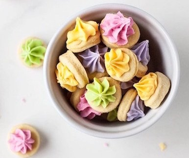 vegan iced easter gems
