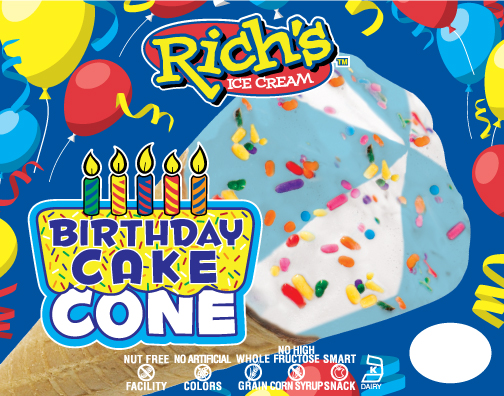 rich;'s food allergy friendly birthday cake cone