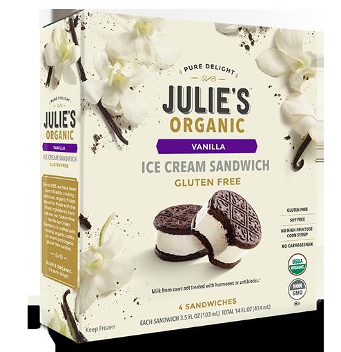 julie's food allergy friendly ice cream sandwich