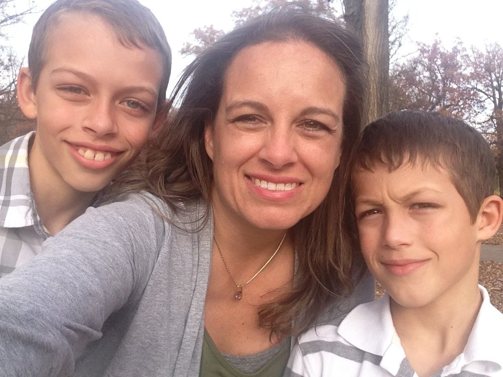 Jamie Kaufmann and her boys, Miles and Graham