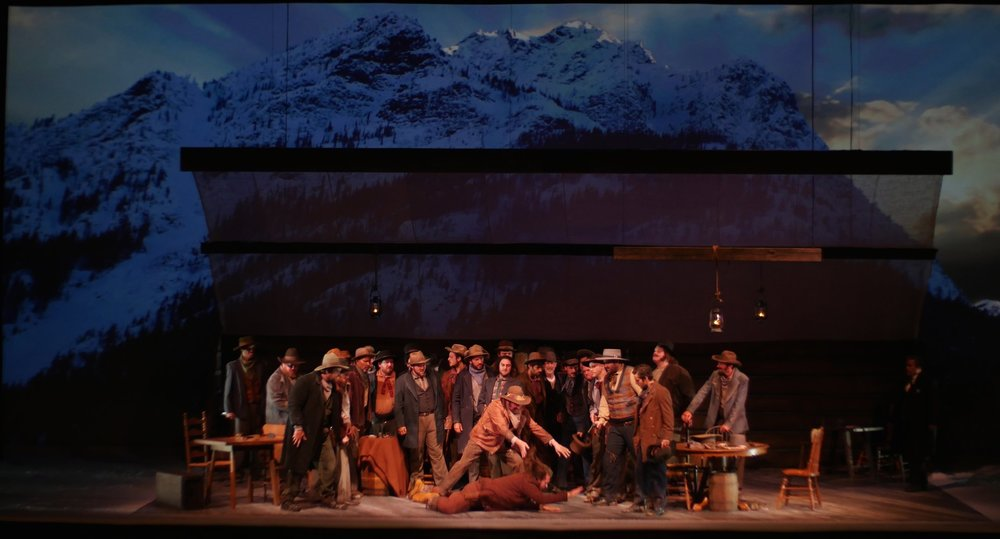 A scene from Emma's recent production of La Fanciulla del West with Opera Colorado | emmagriffin.net