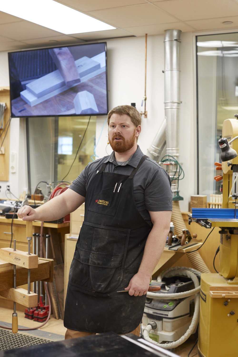 John Olson in the WOOD Shop