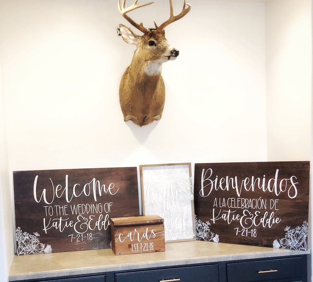 Wood Signage + Card Boxes - From welcome signs to seating charts to card boxes - you name it!