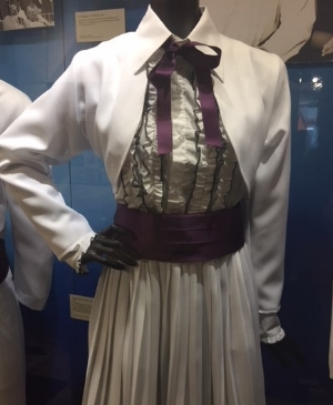 A Claudette costume on display