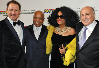At Motown The Musical's opening night in 2013: (l-r) Kevin McCollum, Berry Gordy, Diana Ross, Doug Morris