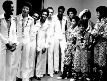 The Commodores with the Jackson 5, circa 1972