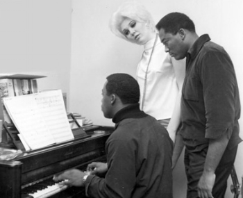 Frank Wilson (left) with Chris Clark, Hal Davis