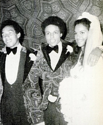 Best man Smokey with Leon and Jayne, 1971