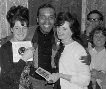 Levi Stubbs, surrounded by admirers in Crayford (photo: Clive Stone/Modus)