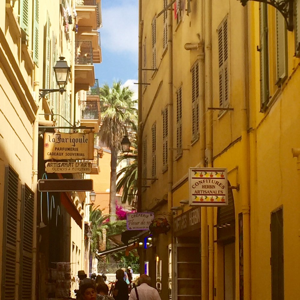Just another lovely street in Menton.