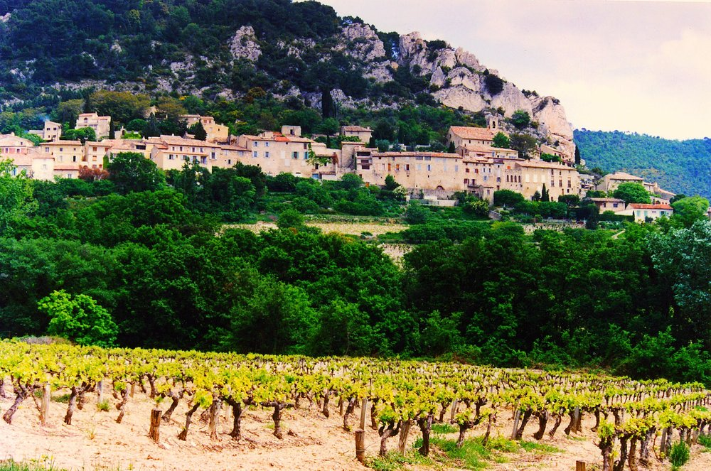 Côtes-du-Rhône vineyards. The first place I realized that some wines came from a very specific place , and no other place in the world.  Photo credit.