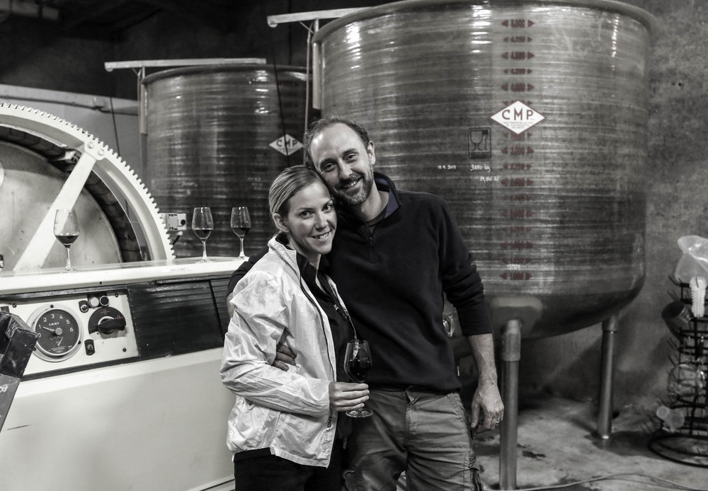 In the winery during the 2017 harvest  (Photo by Susannah Ireland).
