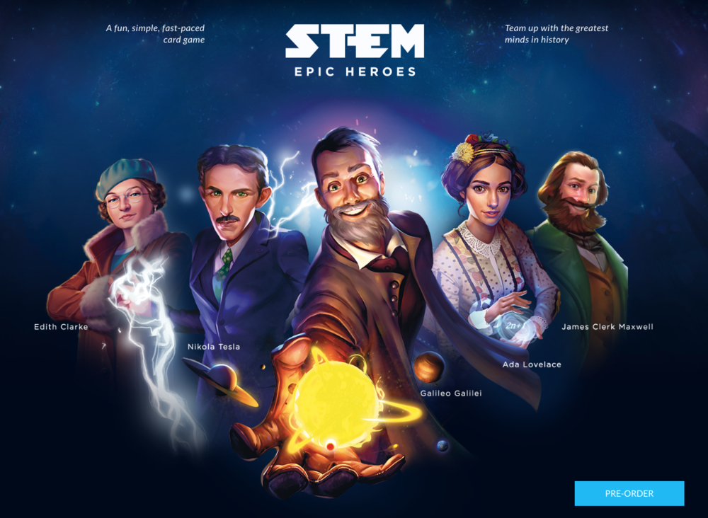 Screenshot of the http://www.stemthegame.com/ homepage