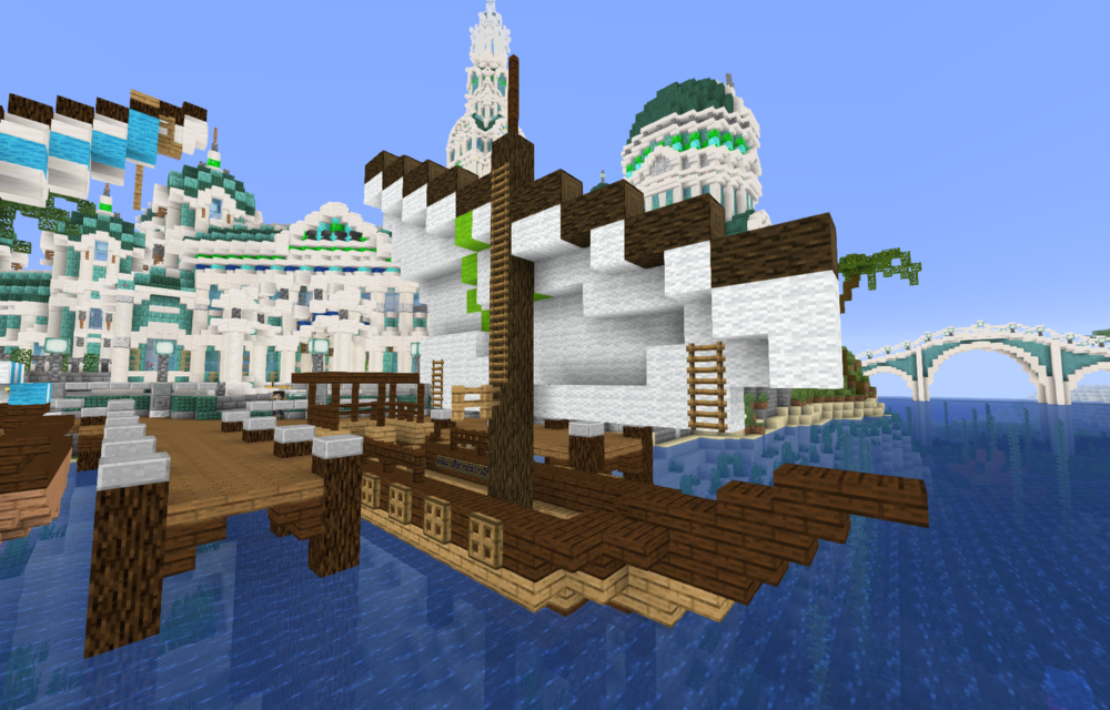 Atlantean Ferry in the City Center docks.