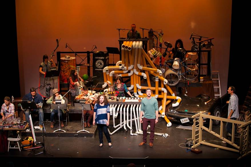 "With a little help from us and a whole lot of creative talent, customer and composer Paul Snider created a theater concert production by the name of  ""The Music of Junk""."
